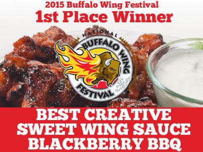 2015 Buffalo Wing Festival 1st Place Winner - Best Creative Sweet Wing Sauce Blackberry BBQ